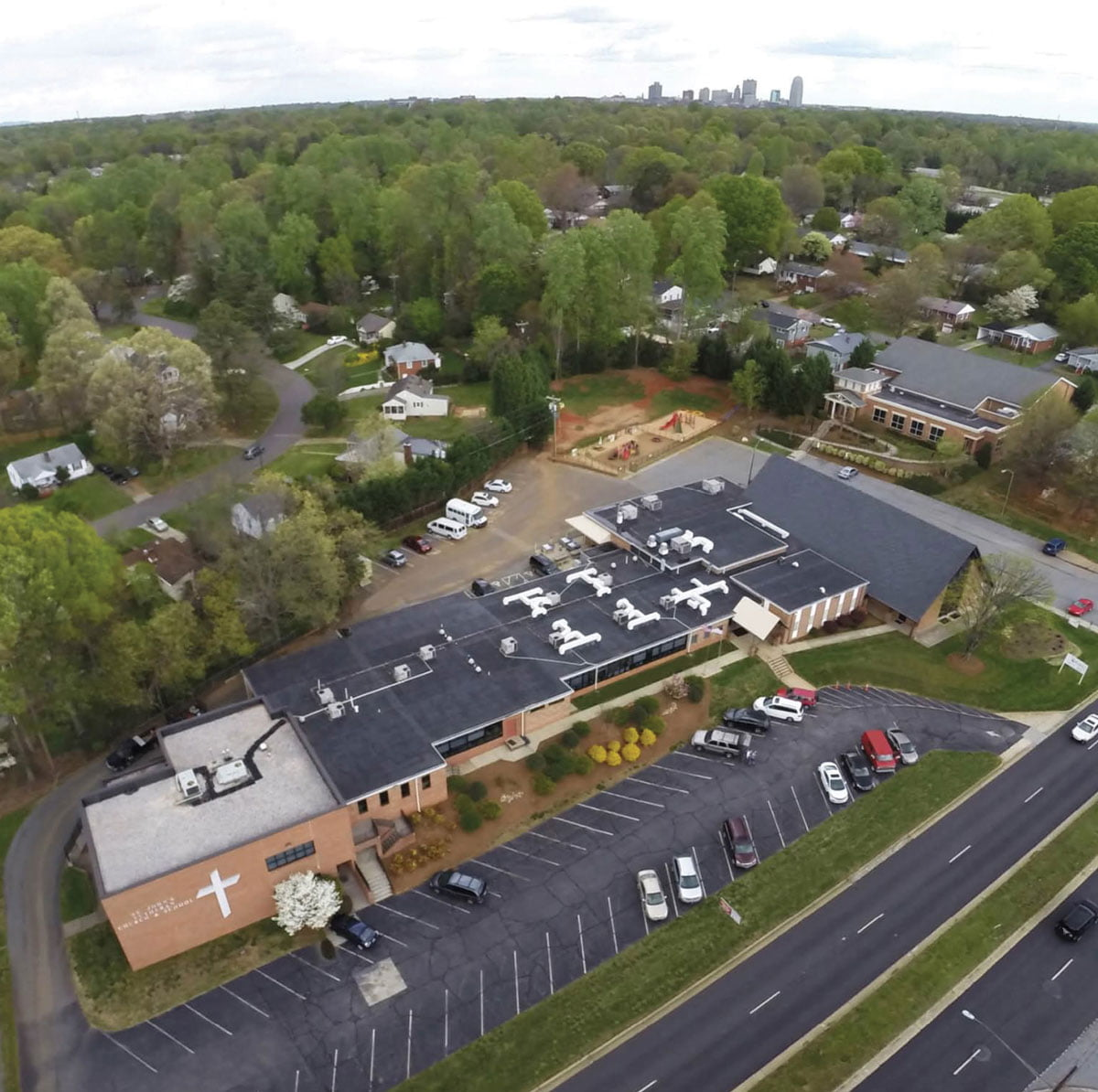 St. John's Lutheran Church & School Aerial Shot